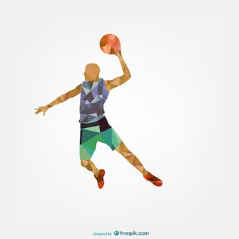 Sports player geometric template