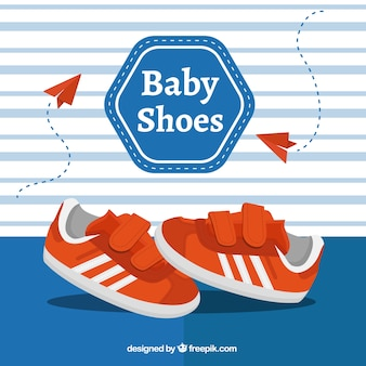 Sporty baby shoes