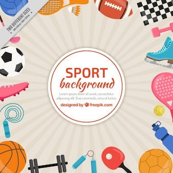 Sporty elements background