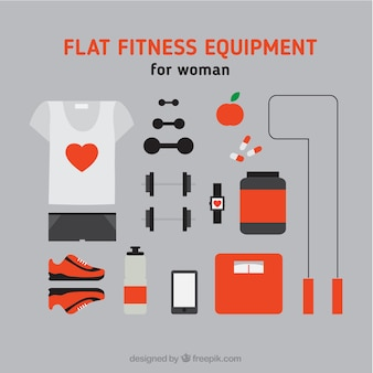 Sporty equipment for woman