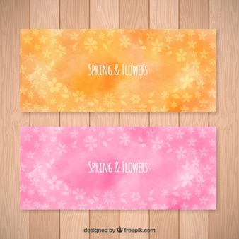 Spring and flowers banners