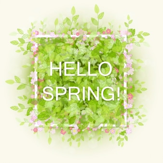 Spring background design