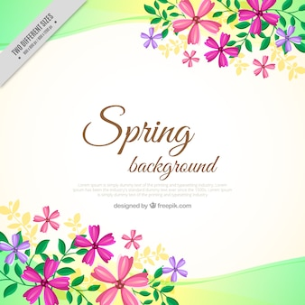 Spring background with floral details