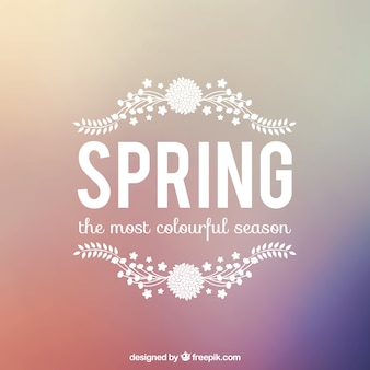 Spring background with lettering
