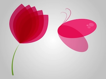 Spring floral butterfly vector designs