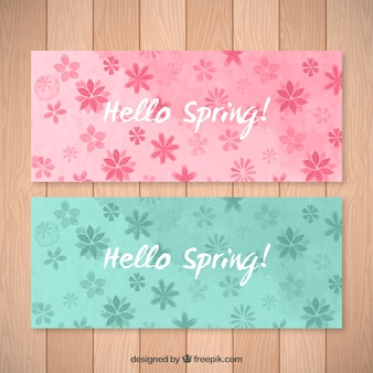 Spring flowers banners pack