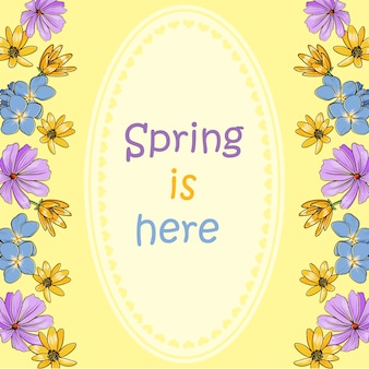 Spring is here background