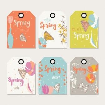 Коллекция весна этикетки
