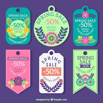 Spring offers cute labels set