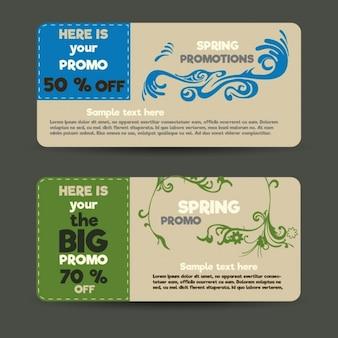 Spring ornamental labels