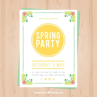 Spring party poster for saturday
