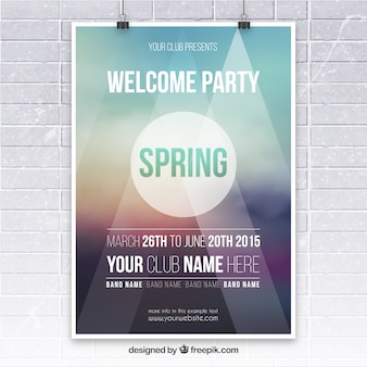 Spring party poster