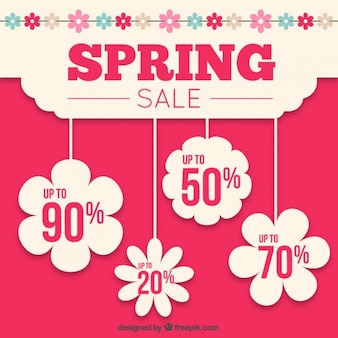 Spring sale floral tags
