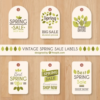 Spring Sale Label Collection