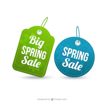Spring sale labels