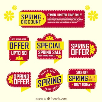 Spring sale stickers