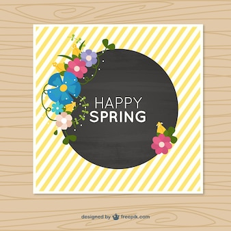 Spring yellow stripes card