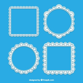 Square and round lace frames