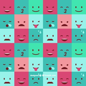Square emoticon background