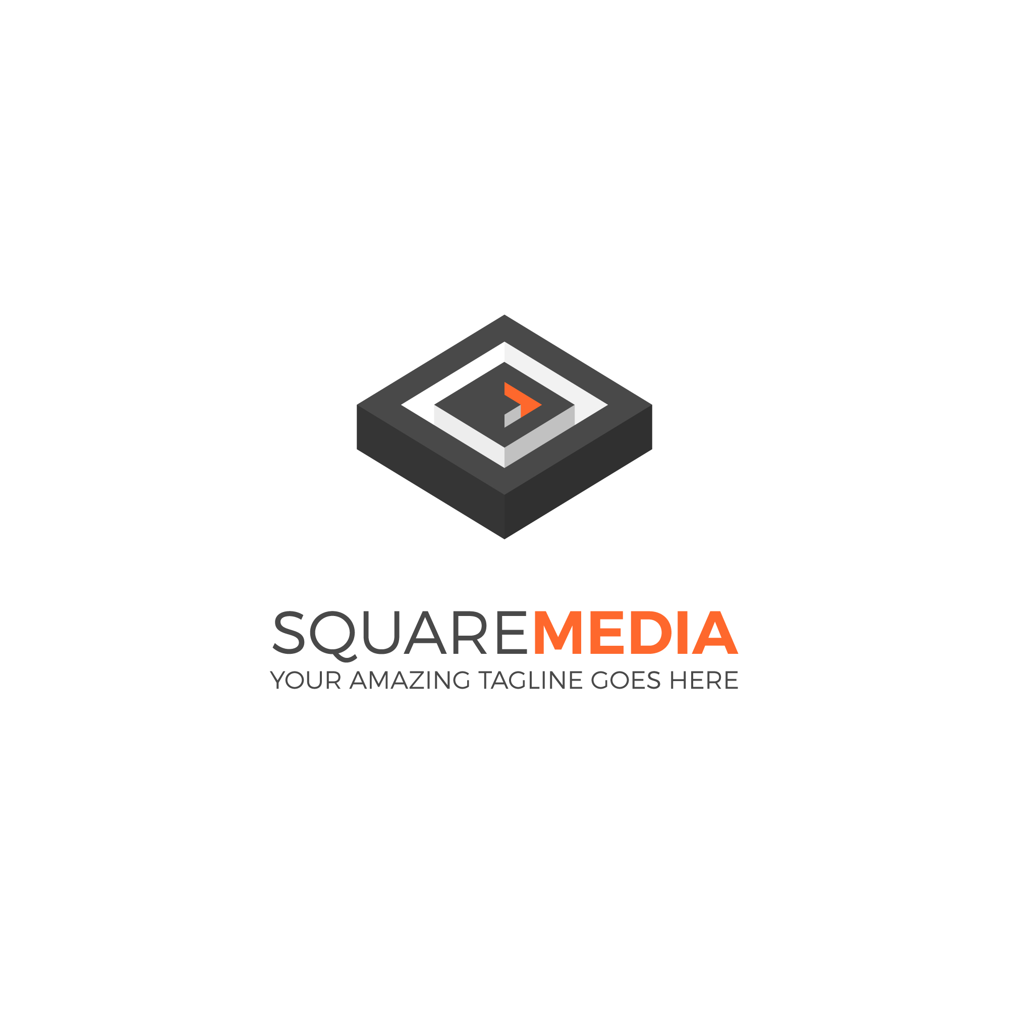 Square media logo template