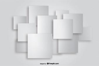 Square Paper Cutout Background