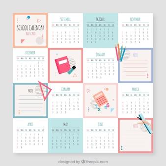 Square school calendar