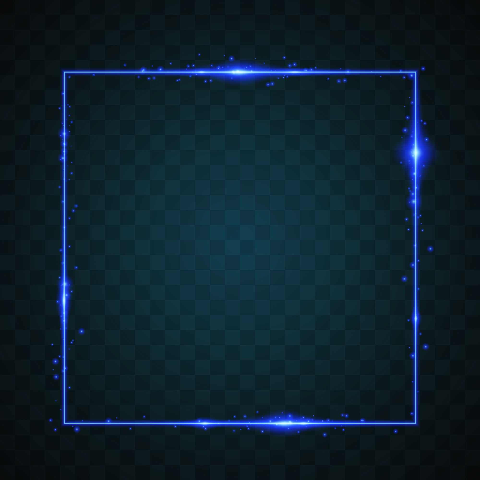 Square with glow light design