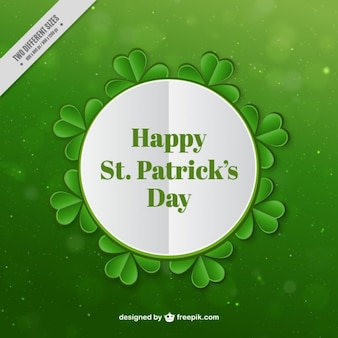 ST. Patrick's day badge on a green background