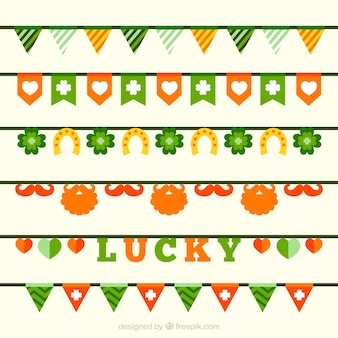 ST. Patrick's day pennant collection