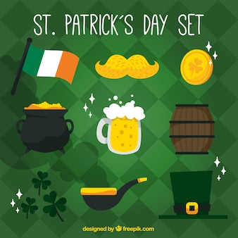 ST. Patrick's day traditional elements