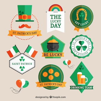 St Patrick badges