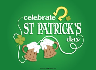 St Patrick's celebration vector