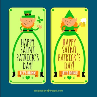 St patrick's character banners