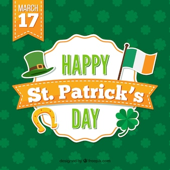 St patrick's day background with orange details