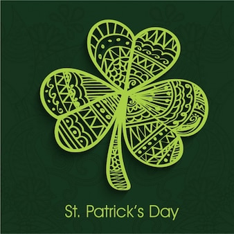 St patrick's day background with ornamental clover