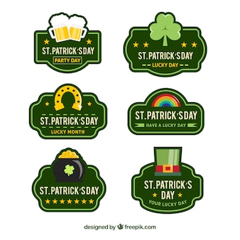 St. patrick's day stickers set