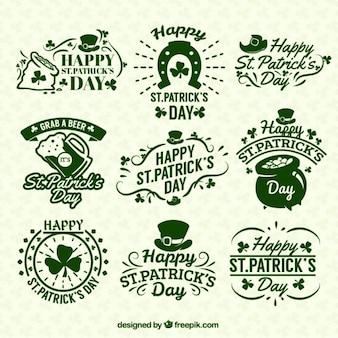 St patricks day badges