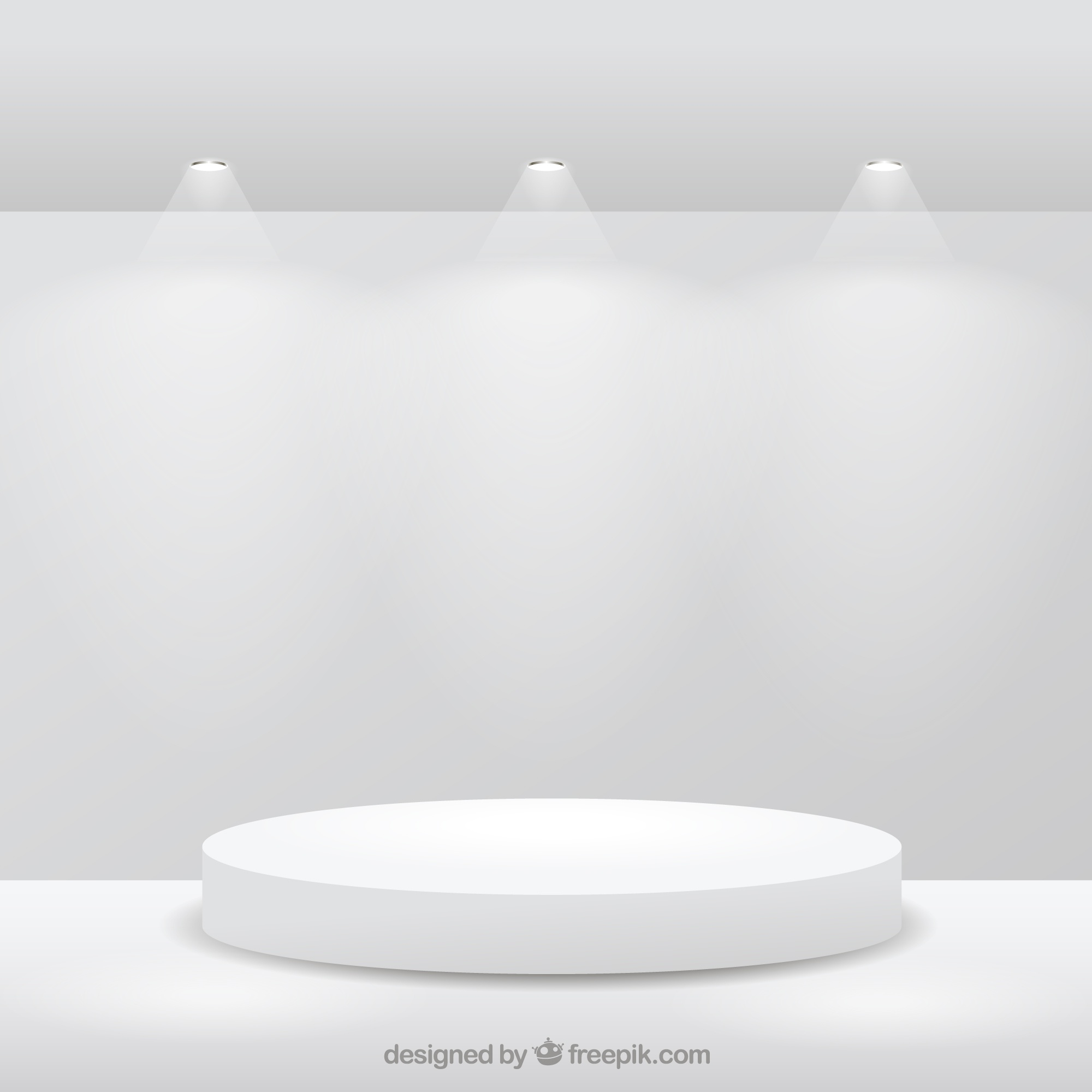 Stage on white room