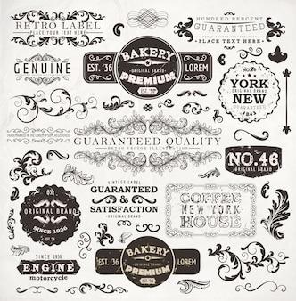 Stamp vignette nostalgia typographic warranty