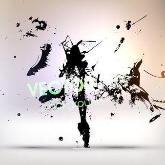 Starling silhouette graphic artwork tattoo