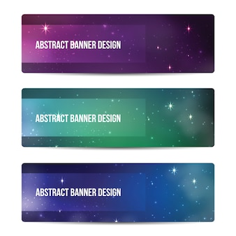 Starry sky banners design