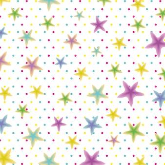 星のパターンの背景