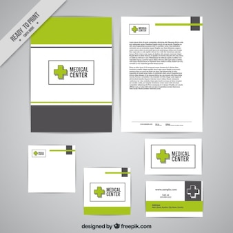Stationery of medical subject