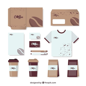 Stationery set and accessories for coffee shop