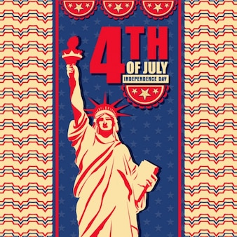Statue of liberty background for independence day
