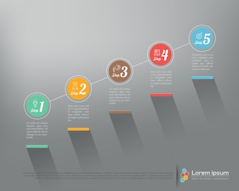 Stepped infographics