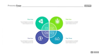Steps for achieving goals slide template