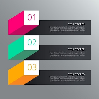 Steps infograph design with different colors in 3d style