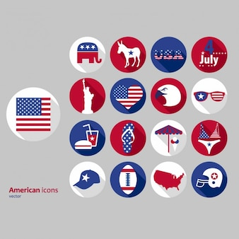 Stickers of american independence day