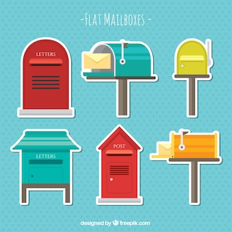 stickers of old mailboxes pack
